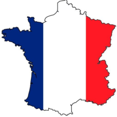 Francja - mapa