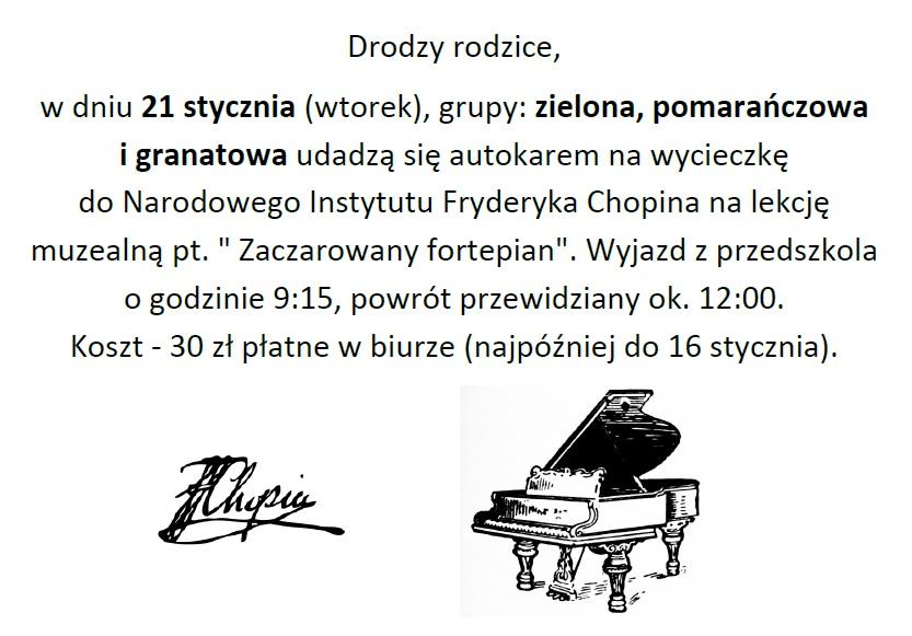 Wycieczka do Narodowego Instytutu Fryderyka Chopina