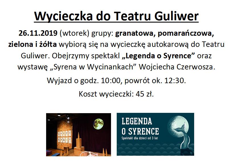 Wycieczka teatru Guliwer