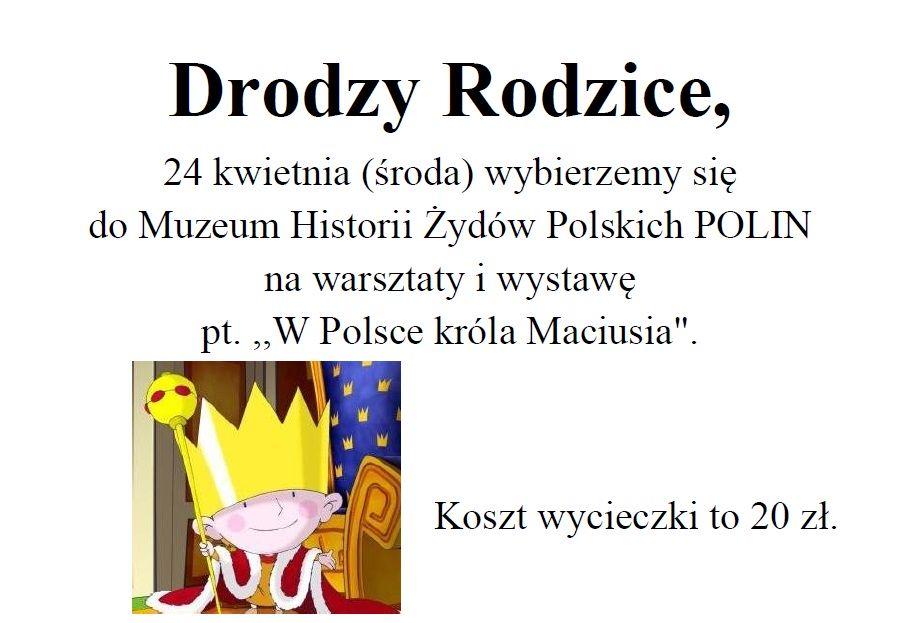 Wycieczka do Muzeum Historii Żydów Polskich POLIN